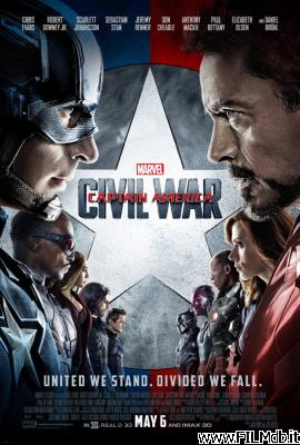 Locandina del film captain america: civil war