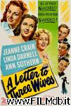 poster del film a letter to three wives